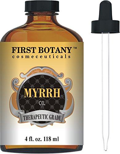 Myrrh Oil 4 fl. oz. With a Glass Dropper -Premium Quality & Therapeutic Grade - Ideal for Aromatherapy, Massages and Maintaining Healthy Skin