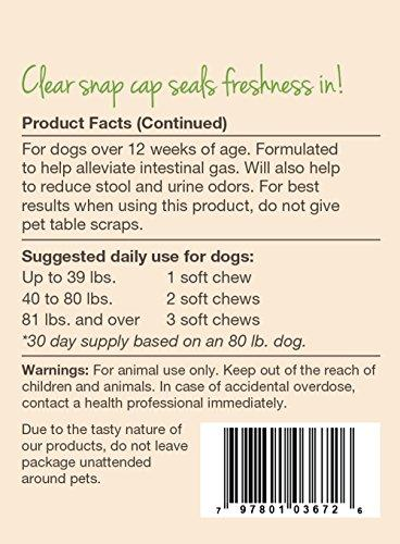 NaturVet Gas & Flatulence Supplement Aid for Dogs, Relieve Gas and Bloating discomfort with No Toot Gas Aid by Animal Wellness NaturVet