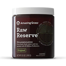 Amazing Grass, Raw Reserve Green Superfood Organic Powder with 25 Billion Probiotics, Wheat Grass and Greens, Flavor: Original, 30 Servings