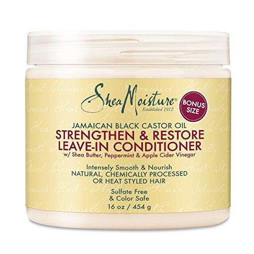Shea Moisture Conditioner & Smoothie Combination Pack –Strengthen & Restore Leave-In Conditioner, 16 oz. & Coconut & Hibiscus Curl Enhancing Smoothie 12 oz.