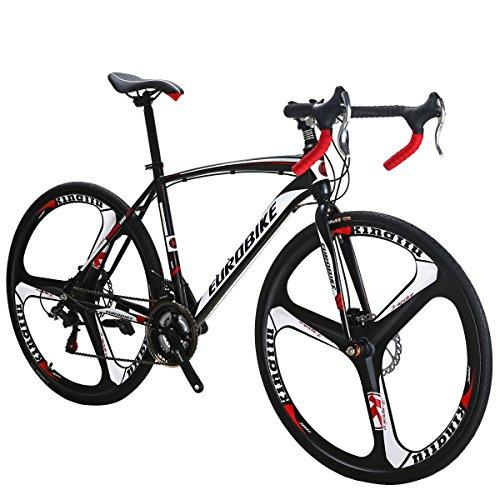 EUROBIKE Road Bike TSM550 Bike 21 Speed Dual Disc Brake 49cm 3-Spoke Wheels Road Bicycle Sport & Recreation EUROBIKE