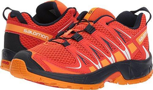 Salomon Unisex XA PRO 3D J Trail Running Shoe, Scarlet ibis, 4 M US Big Kid