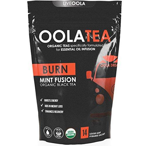 BURN (Mint Fusion) 14 Count | Certified Organic Black Tea | Boosts Energy | Aids in Weight Loss Food & Drink OolaTea