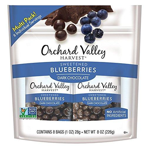 ORCHARD VALLEY HARVEST Dark Chocolate Blueberries 1 oz (Pack of 8)