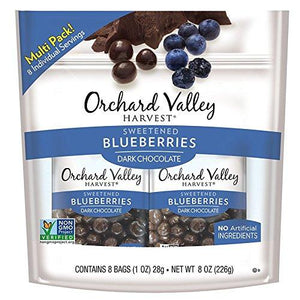 ORCHARD VALLEY HARVEST Dark Chocolate Blueberries 1 oz (Pack of 8) Food & Drink Orchard Valley Harvest