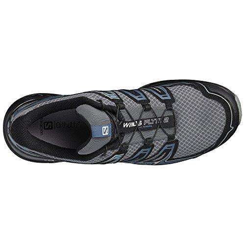 Salomon Men's Wings Flyte 2 Trail Running Shoe - Quiet Shade/Black/Mallard - L39471400 (Quiet Shade/Black/Mallard - 9)