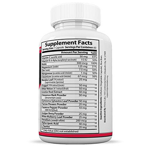 Blood Sugar Support Supplements – Natural Sugar Control and Blood Regulator Supplement with Cinnamon Bark, Magnesium, Cayenne Pepper – Boost Vitality and Manage Blood Sugar – 60 Capsules