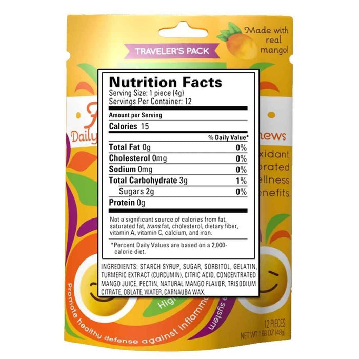 Daily Curcumin Gummy Chews Food & Drink Arya