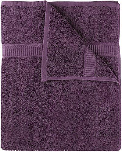 Cotton Bath Towels (Plum, 30 x 56 Inch) Luxury Bath Sheet Perfect for Home, Bathrooms, Pool and Gym Ringspun Cotton by Utopia Towels