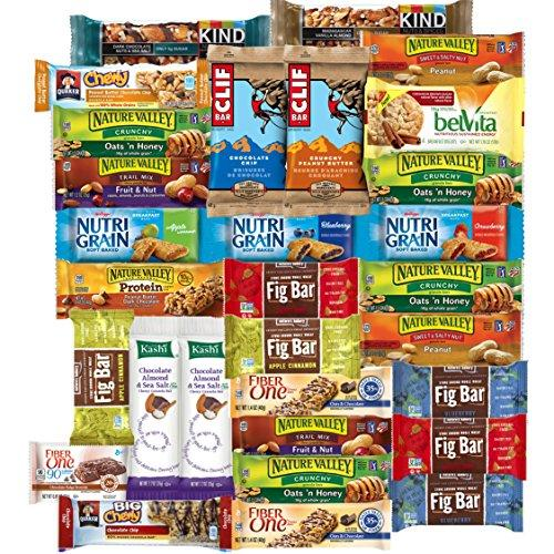 Healthy Bars & Snacks Bulk Variety Pack (Care Package 30 Count) Food & Drink Custom Varietea