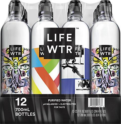 Premium Purified Water, pH Balanced with Electrolytes For Taste, 700 ml (Pack of 12) Food & Drink LIFEWTR