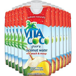 Vita Coco Coconut Water, Peach Mango (Pack of 12) Food & Drink Vita Coco