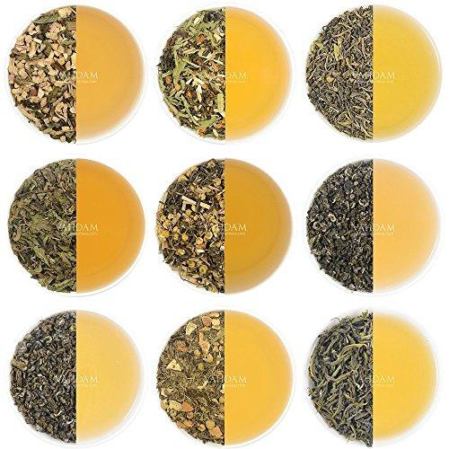 10 GREEN TEA SAMPLER, 50 cups Assorted Tea–Green Tea Loose Leaf with Premium Ingredients Food & Drink VAHDAM