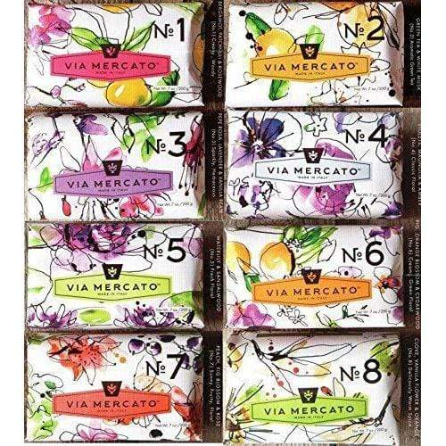 Via Mercato Italian Soap Bar - VARIETY PACK - 8 Total Bars (No.1 -> No.8)