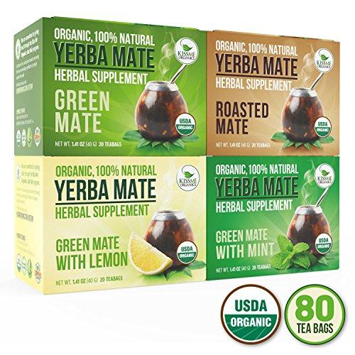 Organic Yerba Mate Tea Bags - Variety Pack Food & Drink Kiss Me Organics