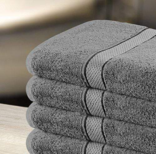 Utopia Towels 30x56 Inches Luxury Cotton Bath Towels, 4 Pack, Dark Grey