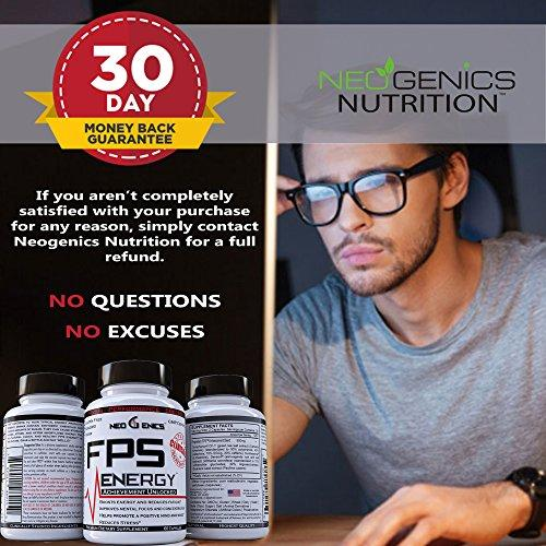 100% Natural Energy Pills - 60 Count Supplement Neogenics