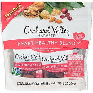 ORCHARD VALLEY HARVEST Heart Healthy Blend, Non-GMO, 1 oz (Pack of 8)