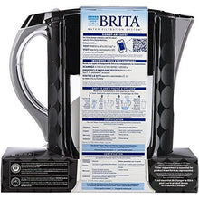 Brita Large 10 Cup Grand Water Pitcher with Filter - BPA Free - Black Bubbles Accessory Brita