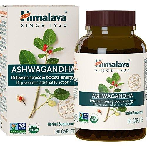 Organic Ashwagandha for Stress-relief, Adrenaline Function and Energy Boost Supplement Himalaya Herbal Healthcare