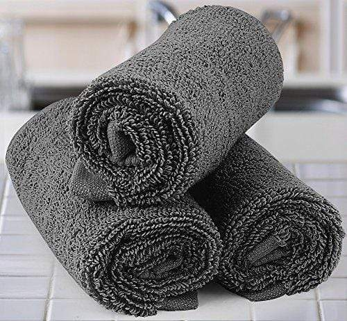 Utopia Towels Luxury Cotton Washcloth Towel Set (12 Pack, Grey, 12 x 12 Inches) Multi-purpose Extra Soft Fingertip Towels, Highly Absorbent Face Cloths, Machine Washable Sport and Workout Towels