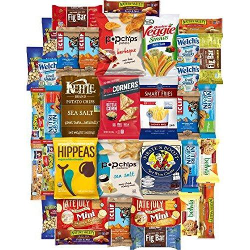 Ultimate Healthy Chips, Bars, Crackers & Snacks Care Package (35 Count) Food & Drink Custom Varietea