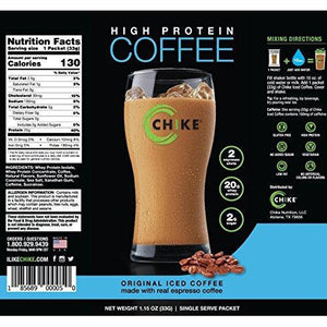 High Protein Coffee, 12-1.15 Ounce Single Serving Packets Food & Drink Chike