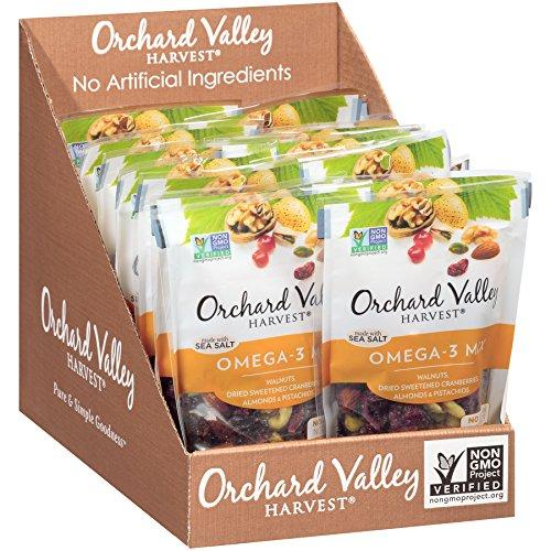 Omega-3 Mix, Non-GMO, No Artificial Ingredients (Pack of 14) Food & Drink Orchard Valley Harvest