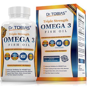 Omega 3 Fish Oil Triple Strength Supplement Dr. Tobias