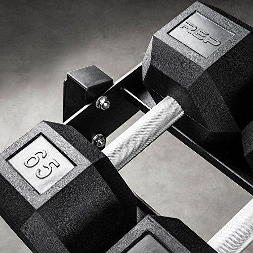 Rep Dumbbell Rack - 3-Tier Dumbbell Rack Perfect for 5-50 Dumbbell Set Sport & Recreation Rep Fitness