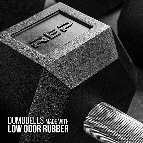 Rep Rubber Hex Dumbbells, 15 lb Pair Sport & Recreation Rep Fitness