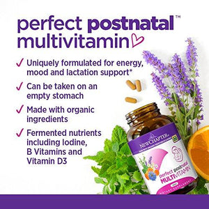 New Chapter Perfect Postnatal Vitamins, Lactation Supplement with Fermented Probiotics + Wholefoods + Vitamin D3 + B Vitamins + Organic Non-GMO Ingredients - 270 ct