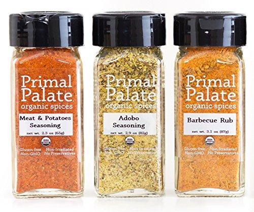 Organic Spices - Signature Blends 3-Bottle Gift Set Food & Drink Primal Palate Organic Spices