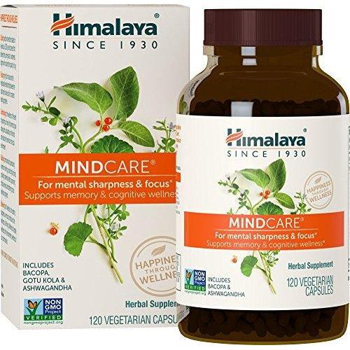 MindCare/Mentat with Bacopa and Gotu Kola for Brain and Mental Alertness Supplement Himalaya Herbal Healthcare