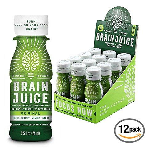 Brain Booster Vitamins Memory Focus Supplement Shots Food & Drink BrainJuice
