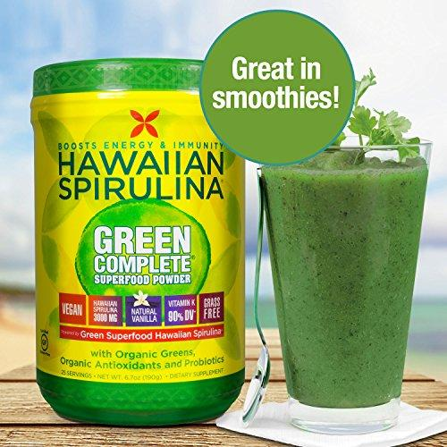 Pure Hawaiian Spirulina Green Complete Superfood Powder Supplement Nutrex Hawaii