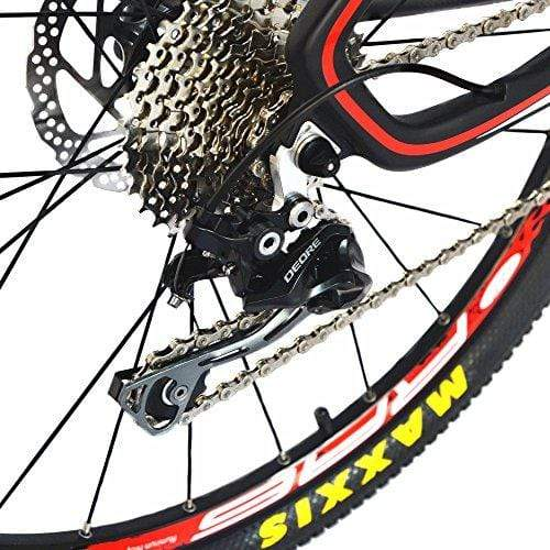 BEIOU Carbon Fiber Mountain Bike Hardtail MTB 10.65 kg Shimano M6000 DEORE 30 Speed Ultralight Frame RT 26Inch Professional Internal Cable Routing Toray T800 Carbon Hubs Matte CB025A (19-Inch)