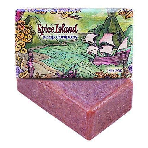 Spice Island Soap Co. - Natural Bar Soap, Exotic Spices (Sandalwood, Vanilla & Cinnamon), 7 Oz