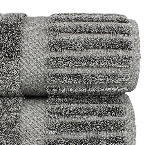 Luxury Hotel & Spa Bath Towel Turkish Cotton, Set of 4 (Gray)