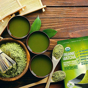 Organic Matcha Green Tea Powder - Japanese Culinary Grade Matcha Food & Drink Kiss Me Organics