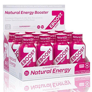 EBOOST Superberry Natural Shot, 12-Count Box