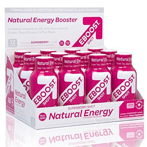 EBOOST Superberry Natural Shot, 12-Count Box Food & Drink EBOOST