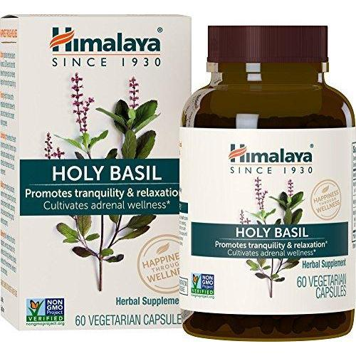 Organic Holy Basil for Stress, Emotional Well-Being & Relaxation Supplement Himalaya Herbal Healthcare