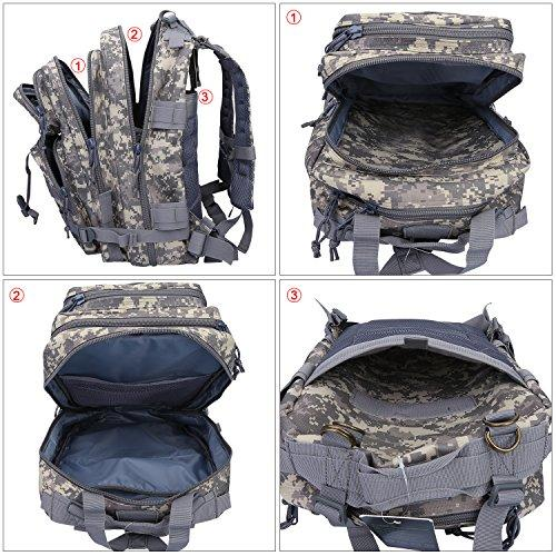G4Free Sport Outdoor heavy bag military backpack tactical backpack Molle Army Backpack Camouflage Backpack acu backpack 40L (ACU Camouflage)