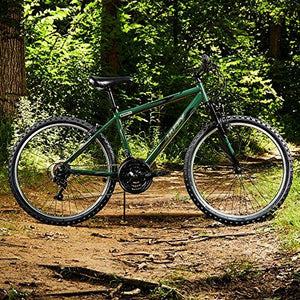 "Huffy 26"" Exxo Mens 21-Speed Hardtail Mountain Bike, Aluminum Frame, Military Green"
