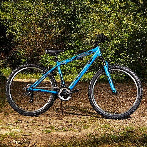 "Huffy 26"" Tekton Mens 21-Speed Hardtail Mountain Bike, Aluminum Frame, Oversized Tires, Satin Tropic Blue Sport & Recreation Huffy"