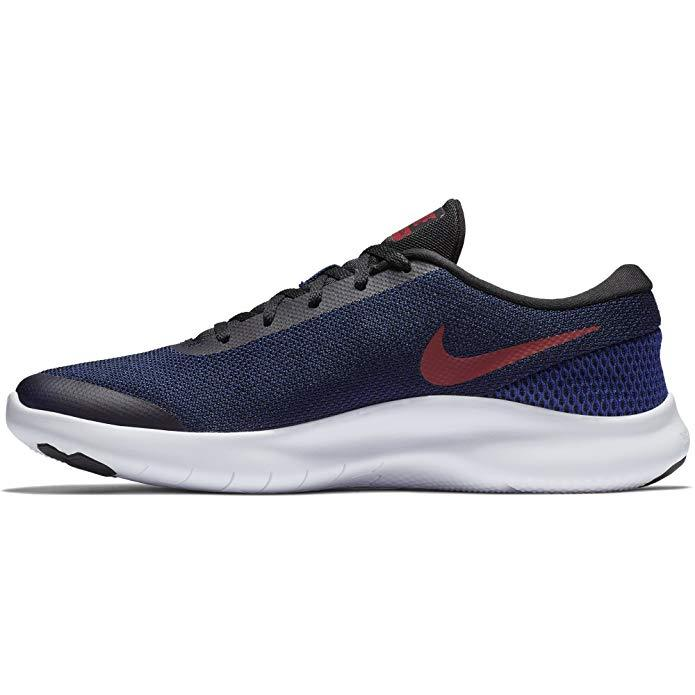 NIKE Men's Flex Experience RN 7 Running Shoe Black/Red Crush/Deep Royal Blue/White Size 8 M US Shoes for Men NIKE