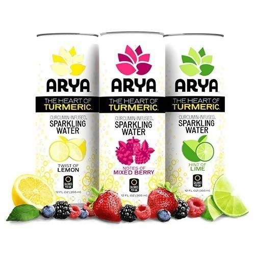 Curcumin-Infused Sparkling Water Food & Drink Arya