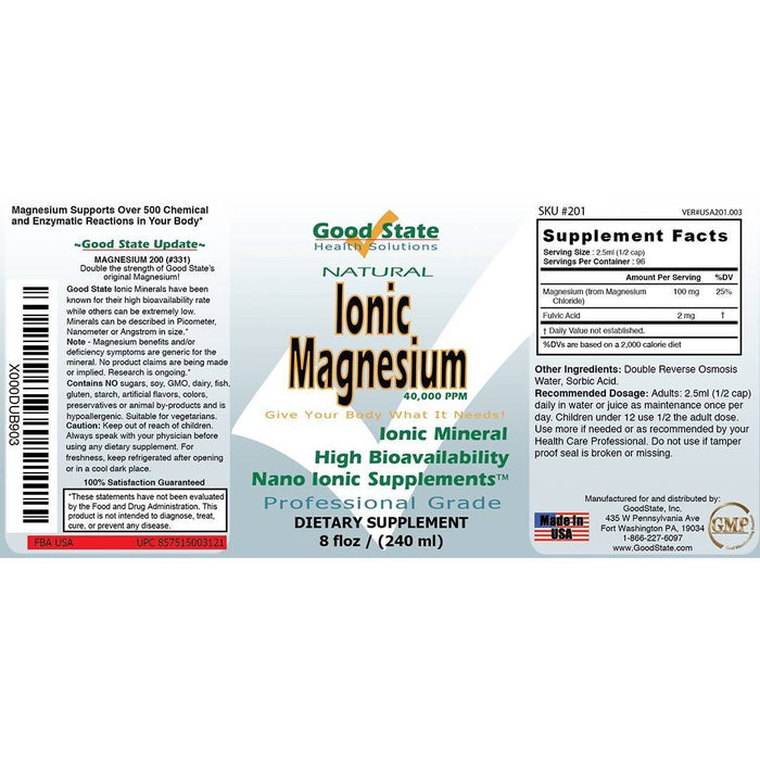 Good State Liquid Ionic Magnesium