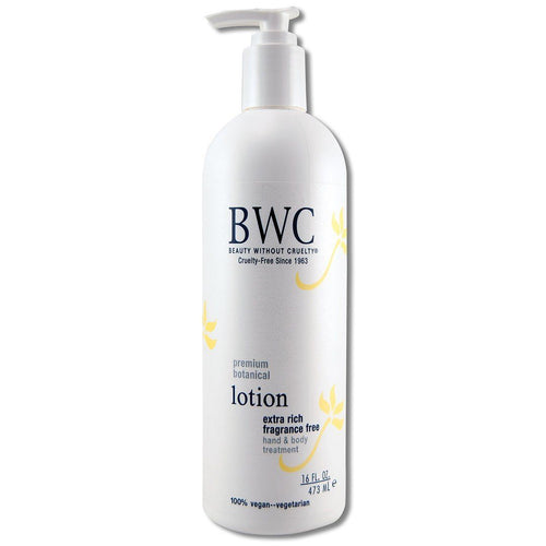 Fragrance Free Extra Rich Fragrance Free Body Lotion 16 oz. Cosmetics Beauty Without Cruelty